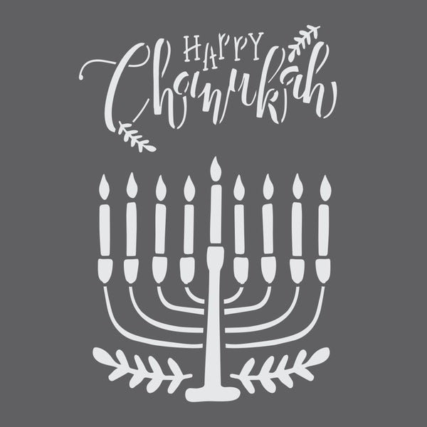 Chanukah Menorah Craft Stencil