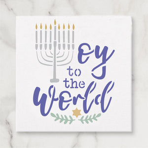 Oy to the World Craft Stencil
