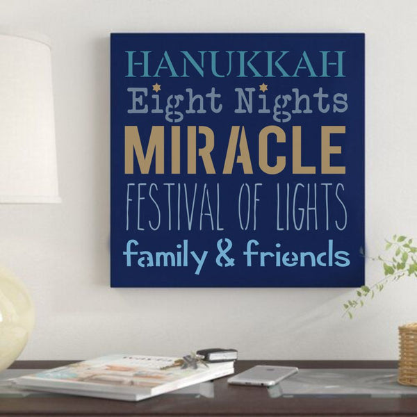 Hanukkah Phrases Craft Stencil