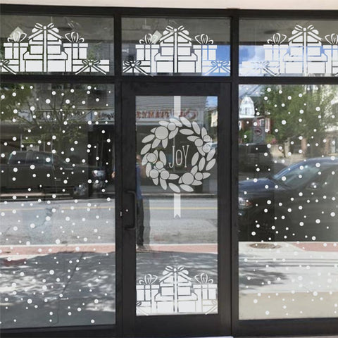 Christmas Wreath Window Stencil