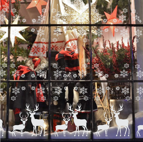 Christmas Elk Window Stencil