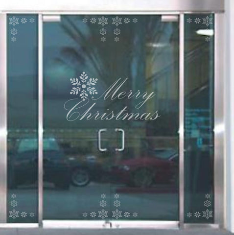 Merry Christmas Window Stencil