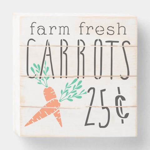 Farm Fresh Carrots Craft Stencil