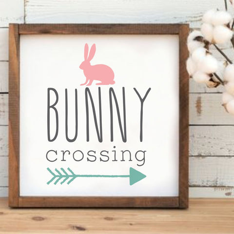 Bunny Crossing Craft Stencil