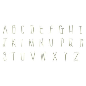 Sticks Uppercase Alphabets Craft Stencil