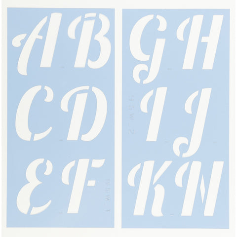 Lobster Letter Stencil Set by Crafty Stencils