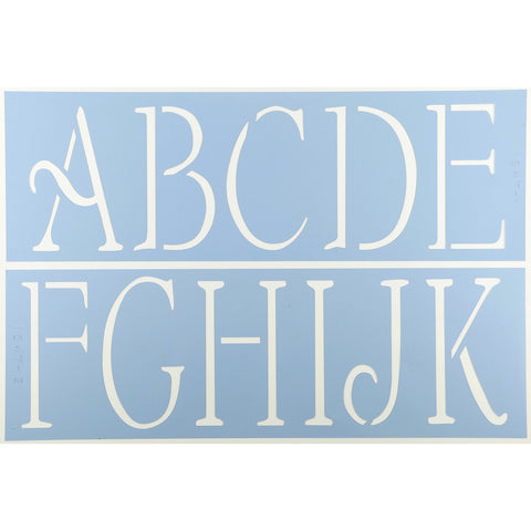 Simple Script Letter Stencil Set