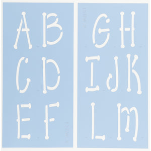 Whimsical Letter Stencil Set