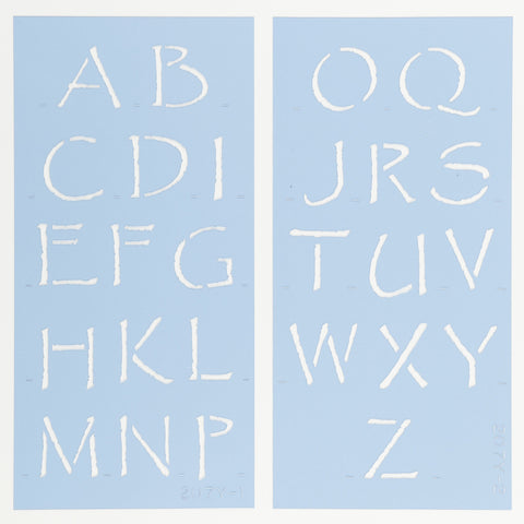 Papyrus Letter & Number Stencil Set by Crafty Stencils