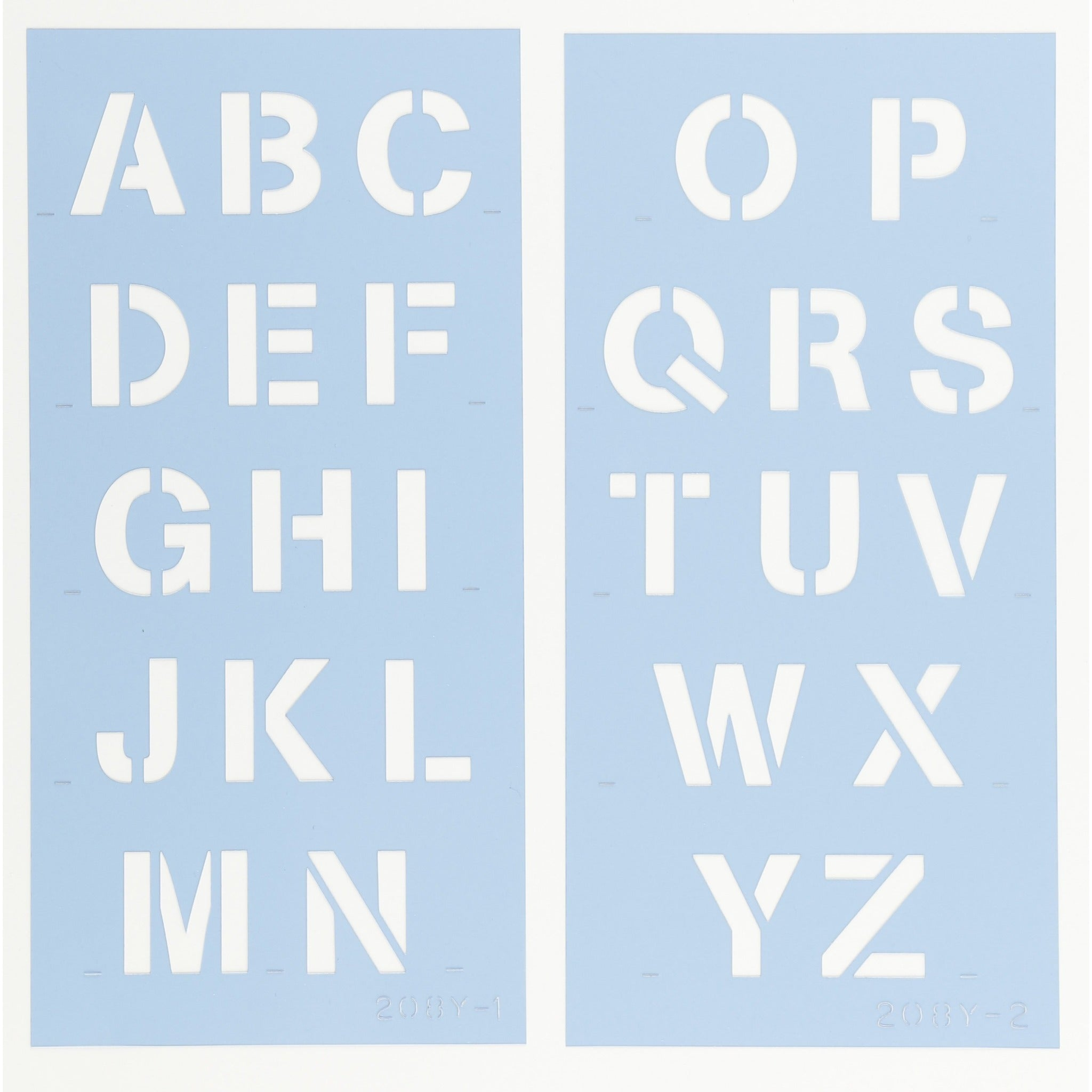 Arial Letter & Number Stencil Set by Crafty Stencils