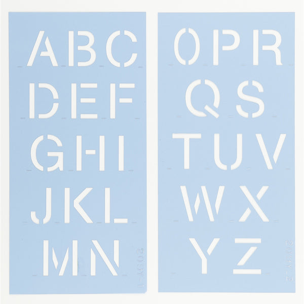 Helvetica Letter & Number Stencil Set by Crafty Stencils