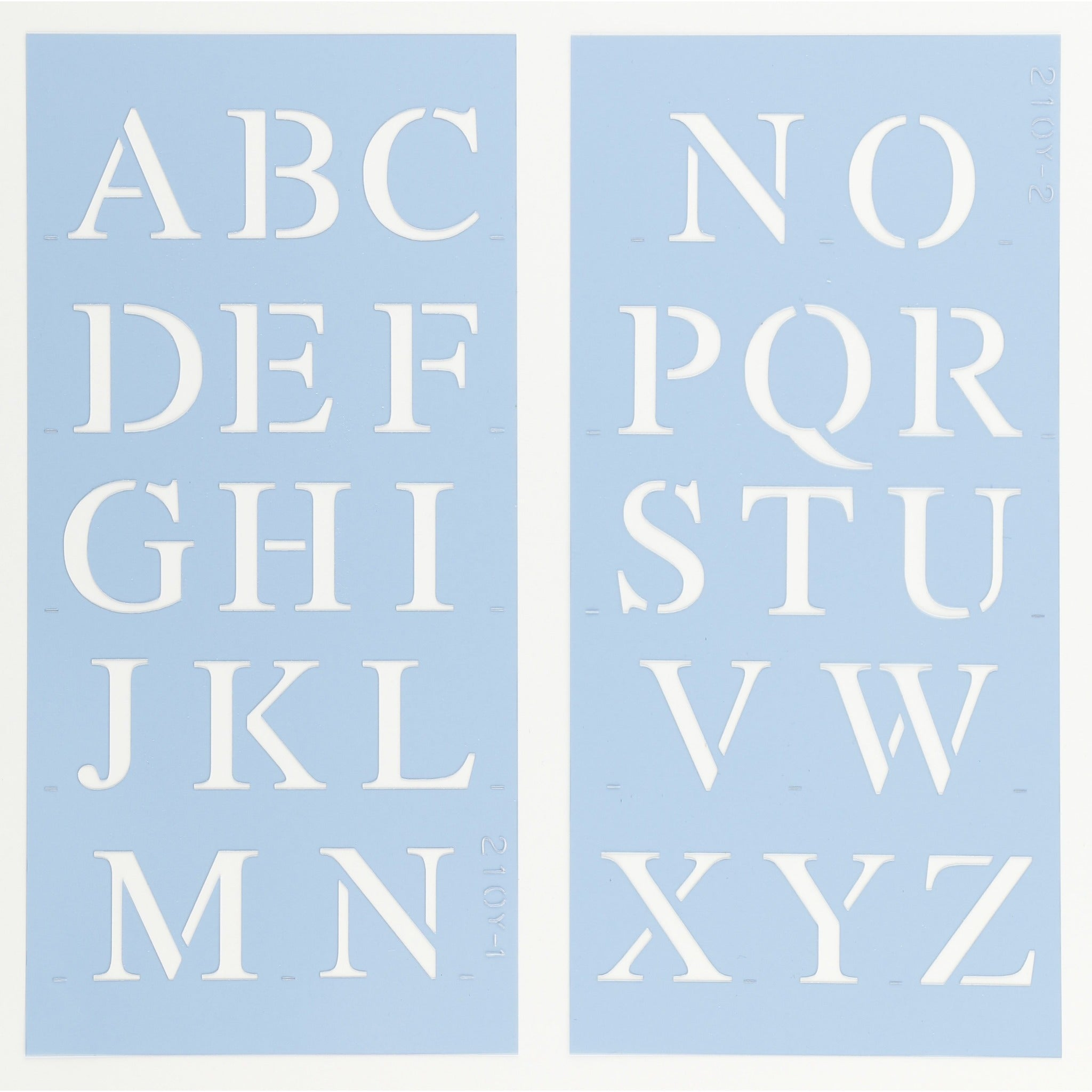 Times New Roman Letter & Number Stencil Set
