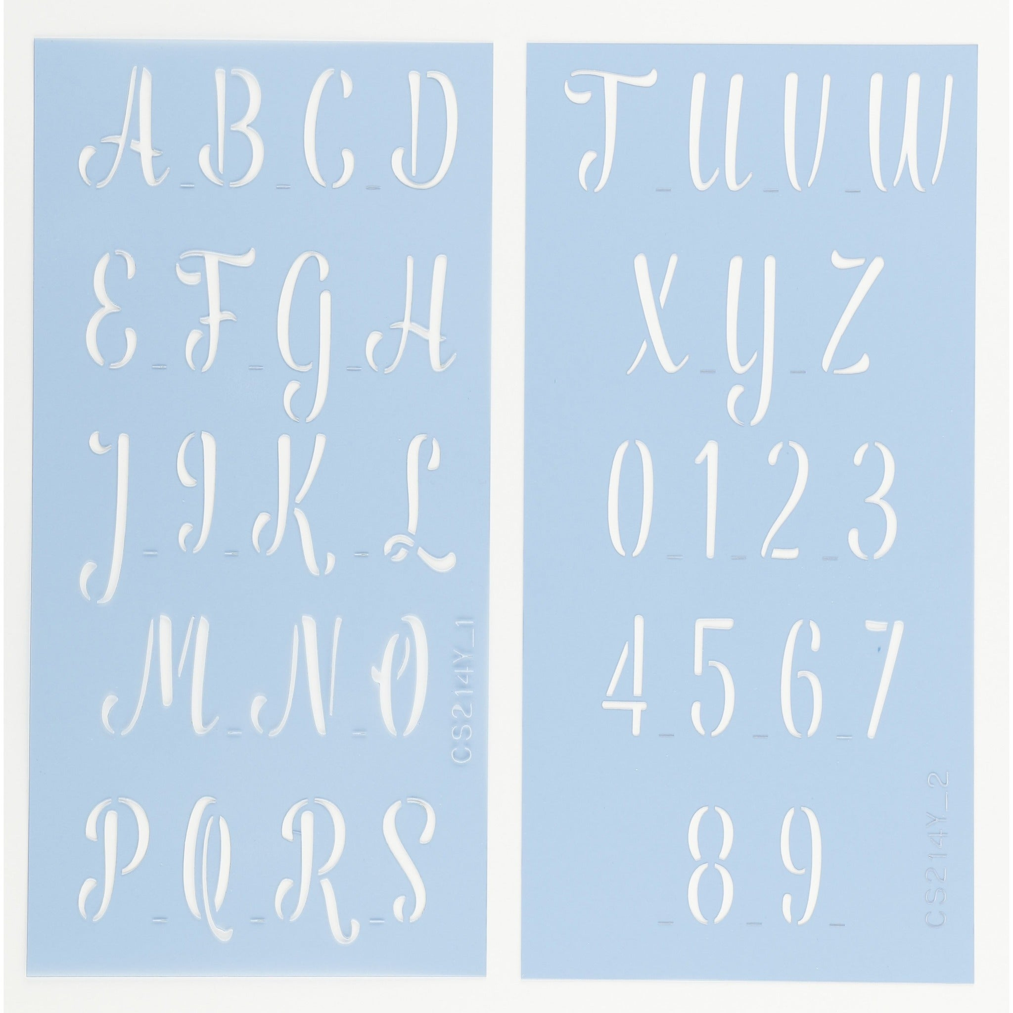 Anthem Letter & Number Stencil Set