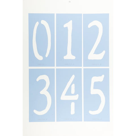 Rustic Number Stencil Set by Crafty Stencils