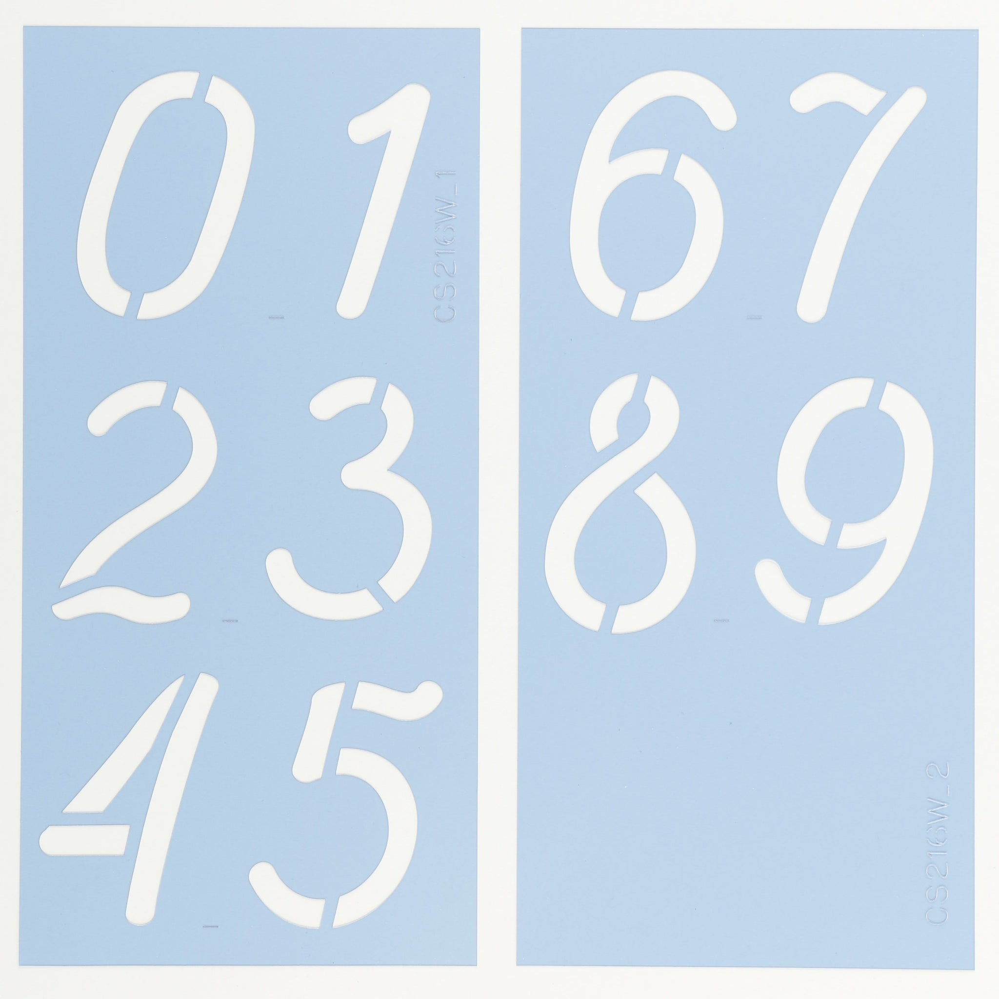 La Fa Salt Number Stencil Set