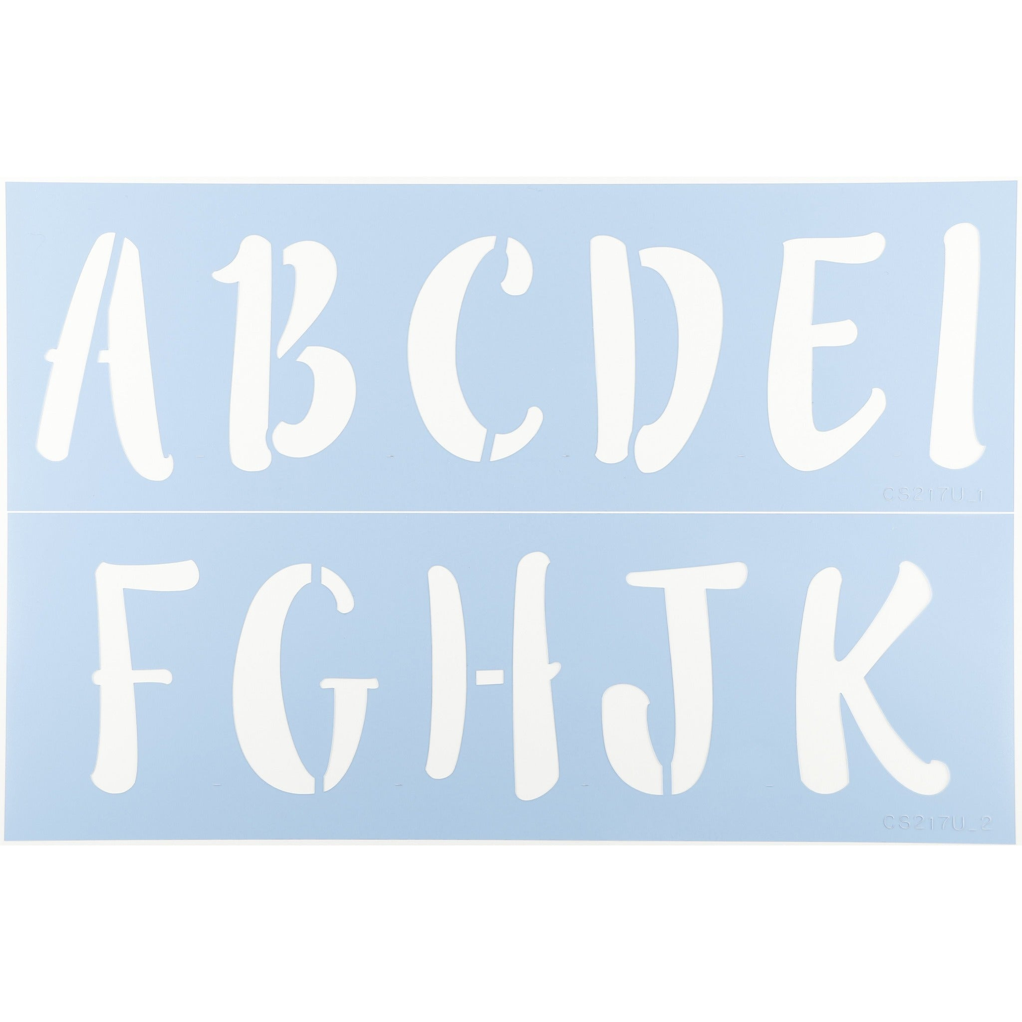 Lilly Belle Letter Stencil Set