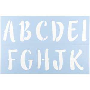 Lilly Belle Letter Stencil Set by Crafty Stencils