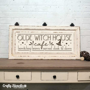 Witch House Cafe Craft Stencil by Crafty Stencils