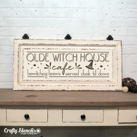Witch House Cafe Craft Stencil