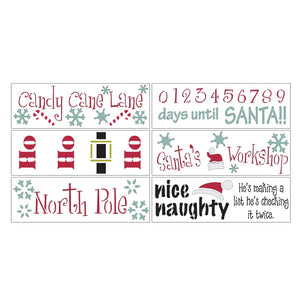 Here Comes Santa DIY Christmas Craft Stencil Kit by Crafty Stencils