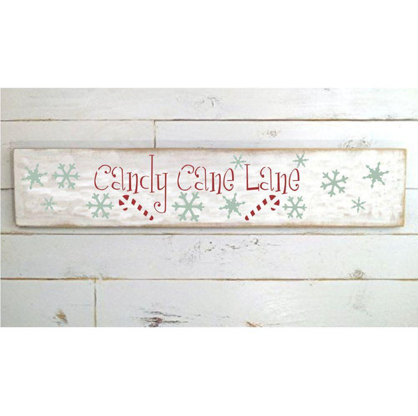 Here Comes Santa 6 Piece Christmas Craft Stencil Kit