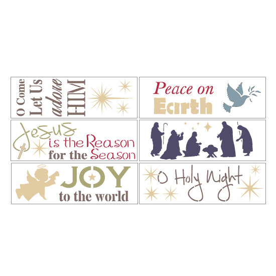 Nativity 6 Piece Christmas Craft Stencil Kit