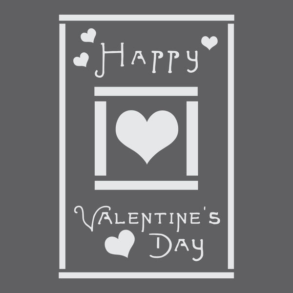 Valentine's Greeting Card Craft Stencil
