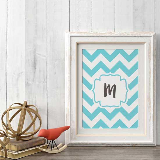 Chevron Monogram Craft Stencil