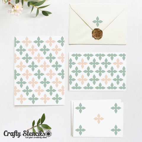 Toulouse Mini Craft Stencil by Crafty Stencils