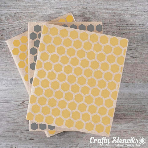 Honeycomb Mini Craft Stencil by Crafty Stencils