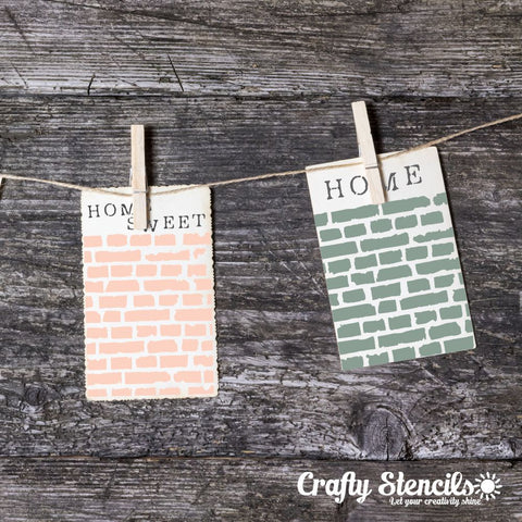 Broken Bricks Mini Craft Stencil by Crafty Stencils