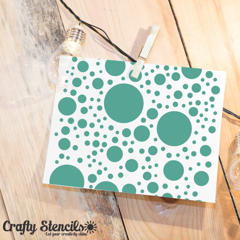 Orbs Mini Craft Stencil by Crafty Stencils