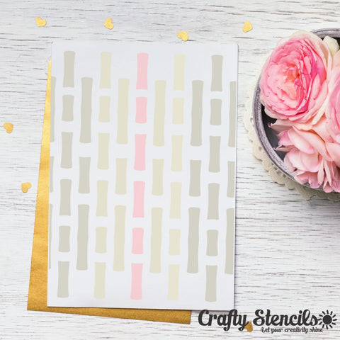 Bamboo Mini Craft Stencil by Crafty Stencils