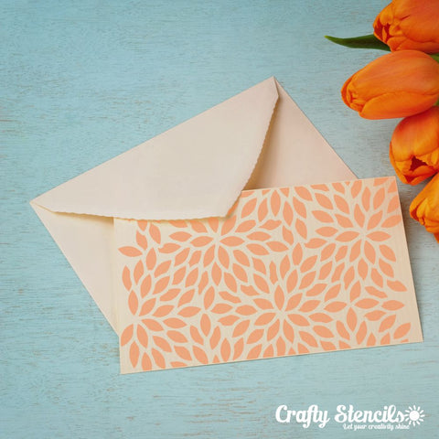 Abstract Foliage Mini Craft Stencil