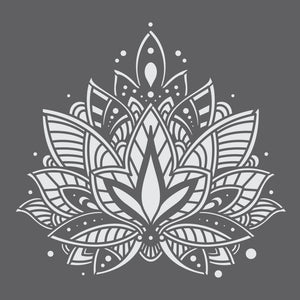 Lotus Mandala 2 Mini Craft Stencil