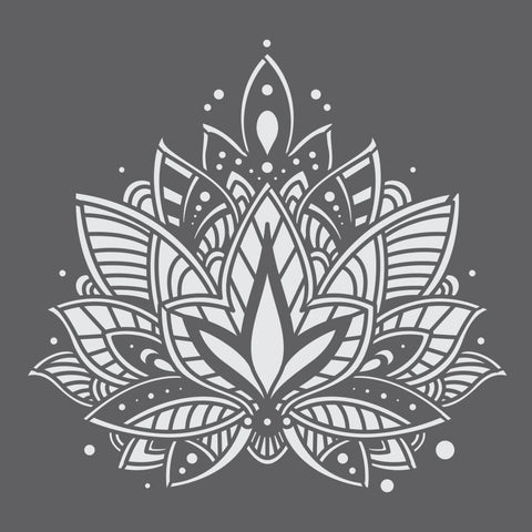 Lotus Mandala 2 Mini Craft Stencil by Crafty Stencils
