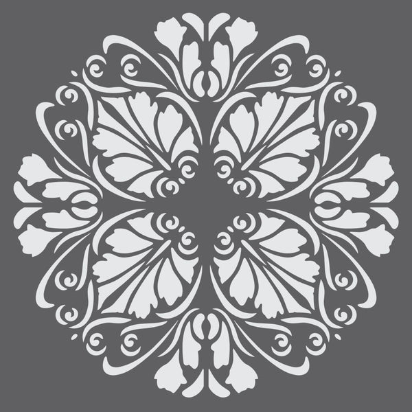 Floral Medallion Mini Craft Stencil