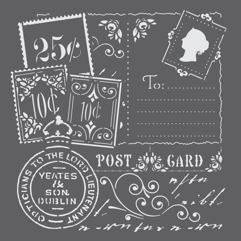 Vintage Postcards Mini Craft Stencil
