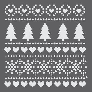 Holiday Fair Isle Mini Craft Stencil