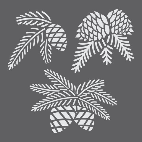Pine Boughs Mini Craft Stencil