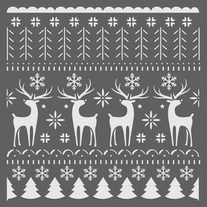 Nordic Christmas Sweater Mini Craft Stencil