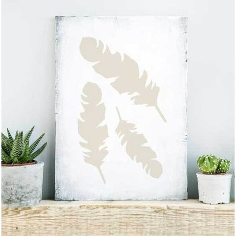 Feathers Craft Stencil