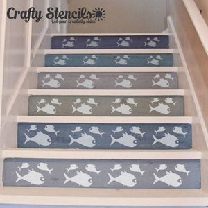 Three Fish Craft Stencil