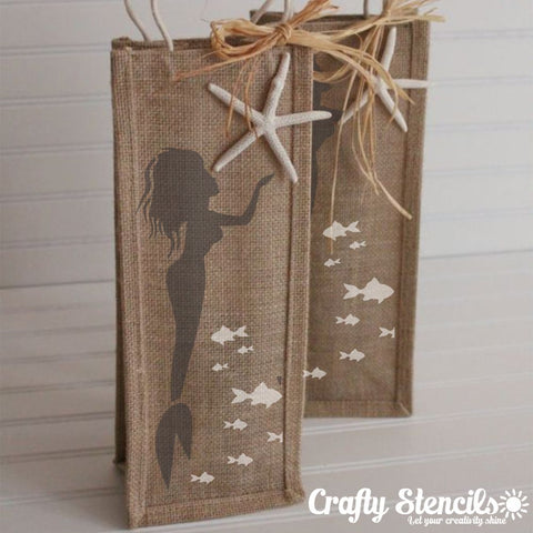 Mermaid Craft Stencils by Crafty Stencils