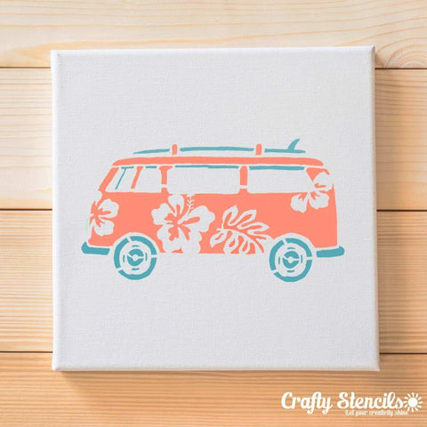 Surf Van Craft Stencil by Crafty Stencils