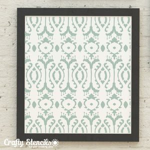 Ikat Craft Stencil by Crafty Stencils