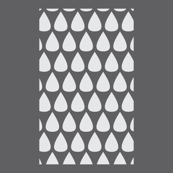 Droplets Designer Craft Stencil by Crafty Stencils