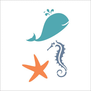 Sea Creatures 2 Craft Stencil by Crafty Stencils