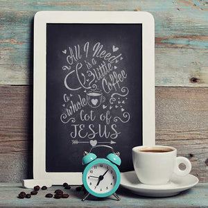 Coffee and Jesus Craft Stencil by Crafty Stencils