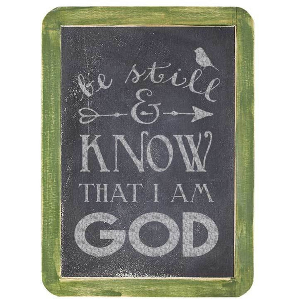 Be Still and Know that I am God Craft Stencil